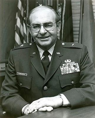 Brig. Gen. Fred Rosenbaum, photo circa 1980, escaped Nazi oppression in Europe and later served on active duty with the U.S. Army, and later in the Oregon and Washington Army National Guards, and the Oregon Air National Guard. (Courtesy Gazing at the Flag Blog/142nd Fighter Wing History)