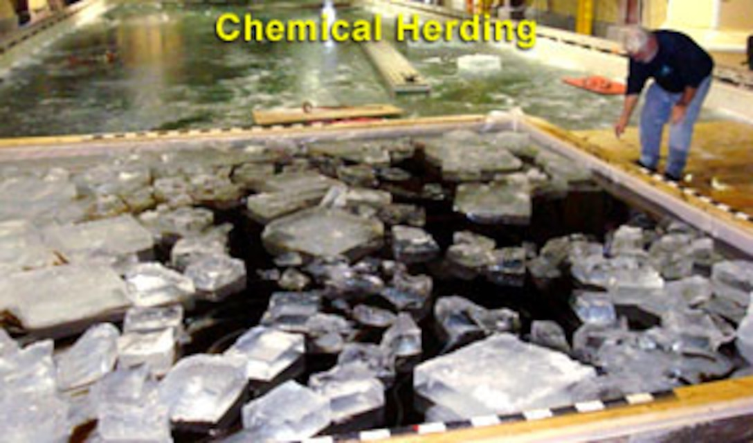 ERDC-CRREL is developing various methods for detecting and removing oil from ice environments.