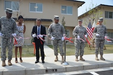 On 16 April 2014, a ceremony was held at the newly completed family housing units on Camp Zama. The 24 units that will house Camp Zama's senior enlisted personnel are located near the Zama American High School.