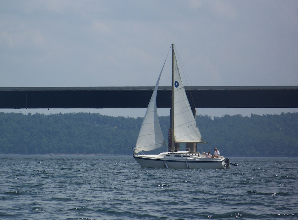 Sailboat on Norfork Lake