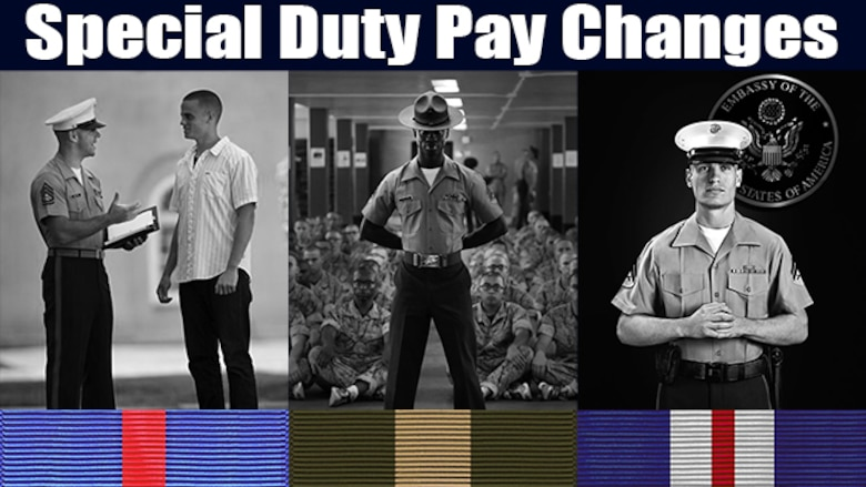 Changes to special duty assignment rates are slated to take effect Oct., 1.