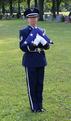 Tech. Sgt. Amy Ough, a New York Air National Guardsman at the Eastern 