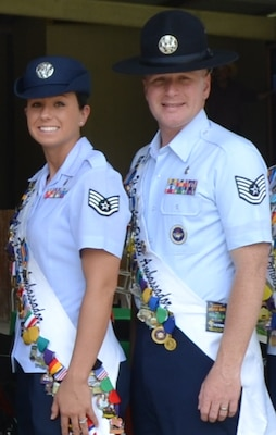 Staff Sgt. Kathryn North and Tech. Sgt. Daniel Anderson the 2014 Joint Base San Antonio Air Force Ambassadors.