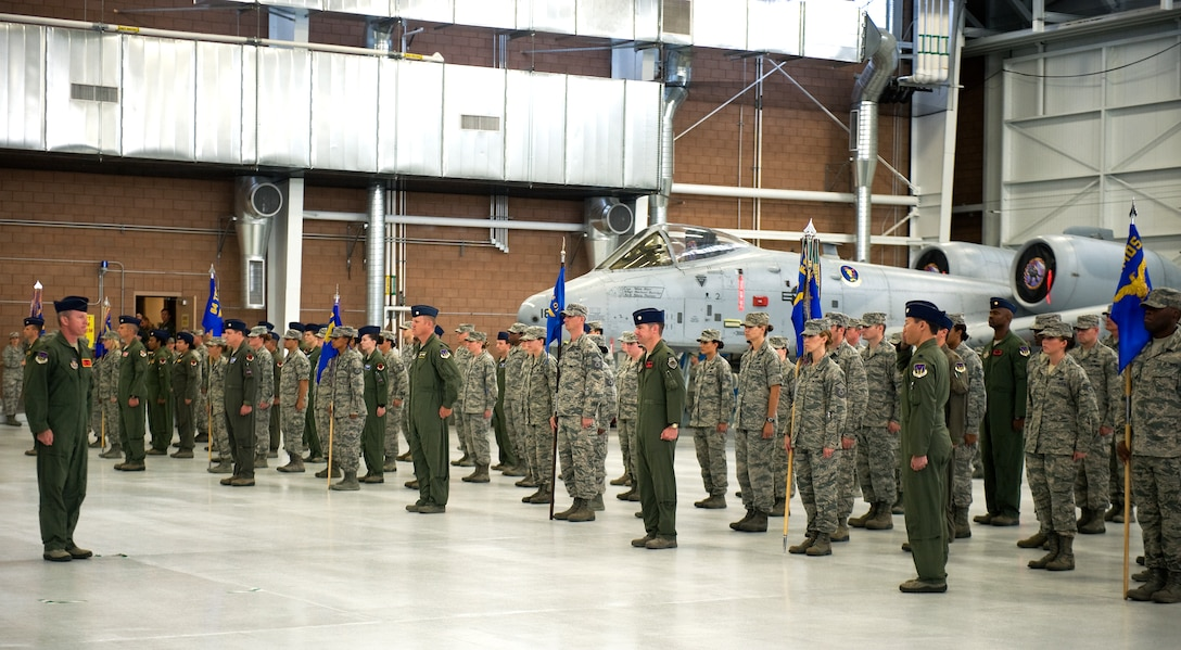 Members of the 926th Group's formation report their accountability prior to the start of the 926th GP's change of command ceremony at Nellis Air Force, Nev., July 31, 2014. During the ceremony, command of the group, which consists of 10 squadrons and one detachment located across the nation, passed from Col. John Breeden to Col. Ross Anderson. (U.S. Air Force photo by Airman 1st Class Mikaley Towle)