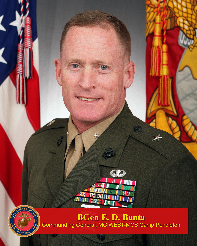 Brigadier General Edward D Banta Gt Marine Corps