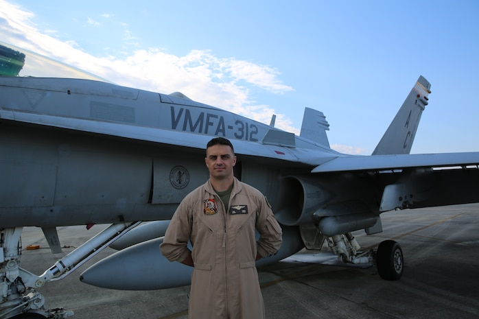 Capt. Jeff Kuss, a pilot with Marine Fighter Attack Squadron 312 has been selected to fly with the best of the best - the Navy's Blue Angels flight demonstration squadron. Kuss, a 30-year-old native of Durango, Colo., will join the Blue Angels for the 2015 season.