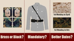 The Marine Corps Uniform Board released a survey seeking input about three proposed uniform changes from active duty and reserve Marines Aug. 8