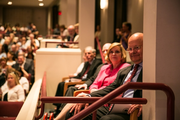Director of National Intelligence James Clapper joined the graduation ceremony for NIU students July 25.