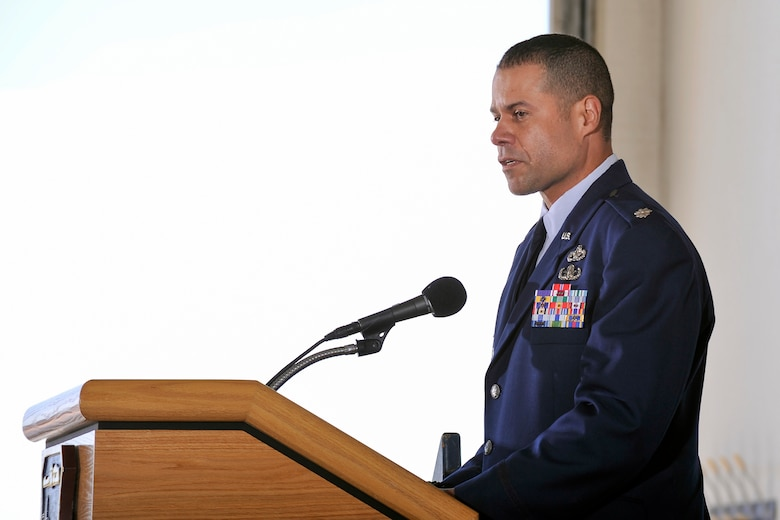 The 10th Civil Engineer Squadron commander Lt. Col. Jose Rivera, was recently named as one of the Great Minds in STEM 2014 Military and Civilian Heroes. (U.S. Air Force photo/Liz Copan)
