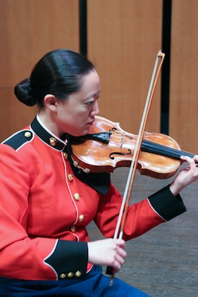 On Friday, Aug. 22, at 6 p.m., a Marine string ensemble will present a free performance at the Kennedy Center's Millennium Stage in Washington, D.C., led by coordinator Staff Sgt. Chaerim Smith.