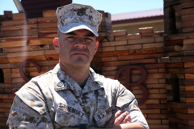 Master Gunnery Sgt. Johnny Mendez, operations chief and the senior enlisted in his military occupational specialty, 7th Engineer Support Battalion, 1st Marine Logistics Group, of Las Cruces, N.M., is coming up on his 25th year in the Marine Corps. He takes great pride in his job as a combat engineer and loves to be surrounded by Marines. From his days as a drill instructor to his present responsibility as the MOS's senior Marine, Mendez has maintained his honor as a Marine and believes it's every Marine's duty to do the same.
