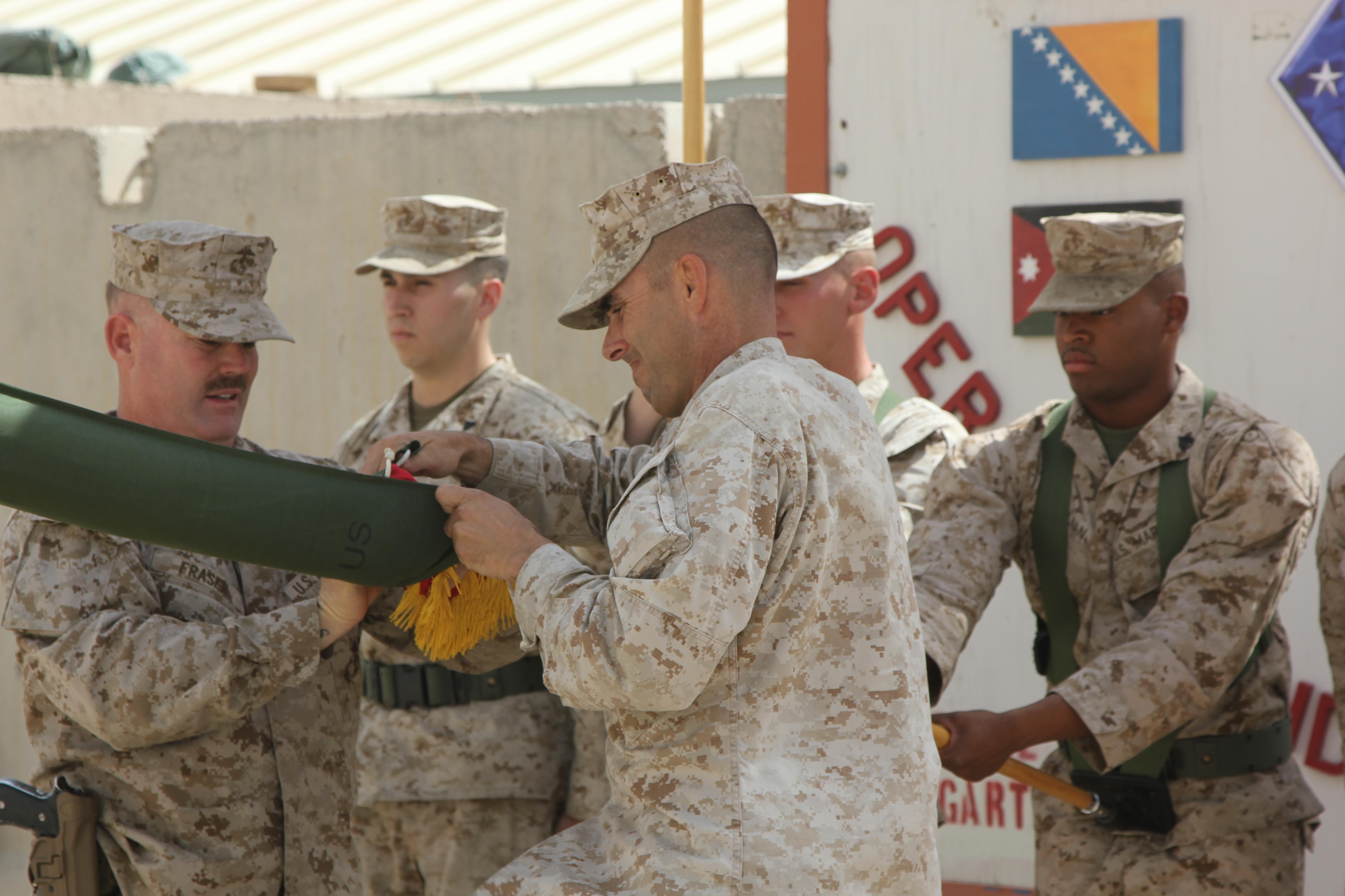st marine regiment cases colors ends mission in > i hi res photo