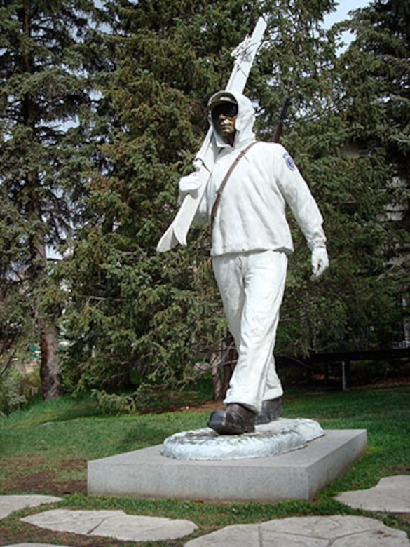 A statue in Vail, Colo., honors the  U.S. Army's 10th Mountain Division, that trained at Camp Hale, Colo., near the resort town. Pete Seibert, who helped to start the ski resort served with the 10th Mountain Division during World War II.