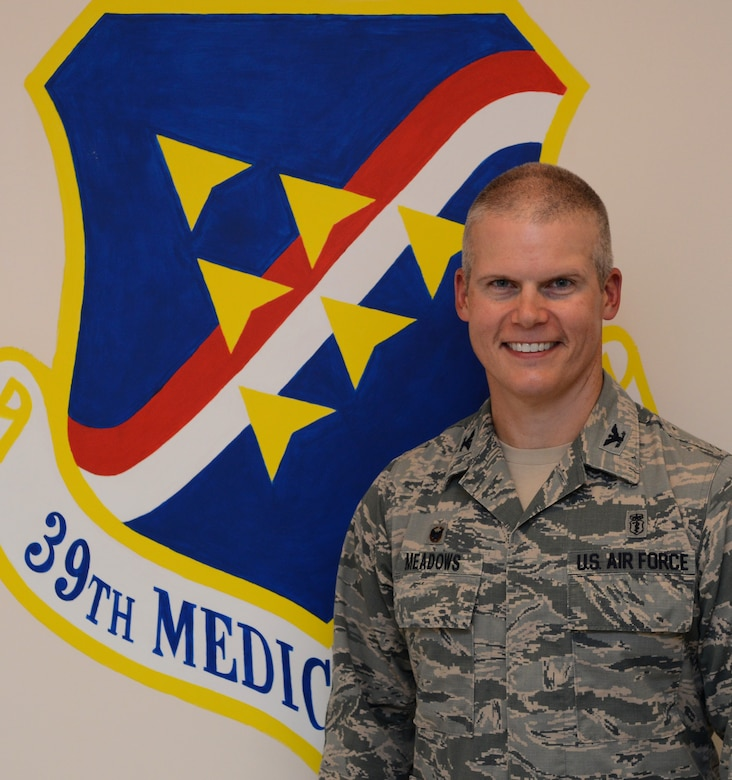 Col. Andrew Meadows is the 39th Medical Group commander. Meadows took command of the group in a change of command ceremony July 22, 2014, Incirlik Air Base, Turkey. (U.S. Air Force photo by Staff Sgt. Caleb Pierce/Released)