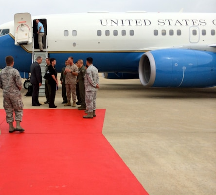 U.S. Deputy Defense Secretary Bob Work arrives in South Korea as part of a seven-day trip that began with stops in Hawaii and on Guam, and will include a visit this week in Japan. DoD photo