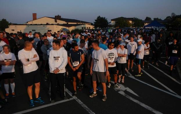 Color Run participants line up to begin the Diversity Day 5K Color Run Aug. 21, 2014, at Spangdahlem Air Base, Germany. The Color Run kicked off the first of many events to celebrate Diversity Day. (U.S. Air Force photo by Staff Sgt. Christopher Ruano/Released)