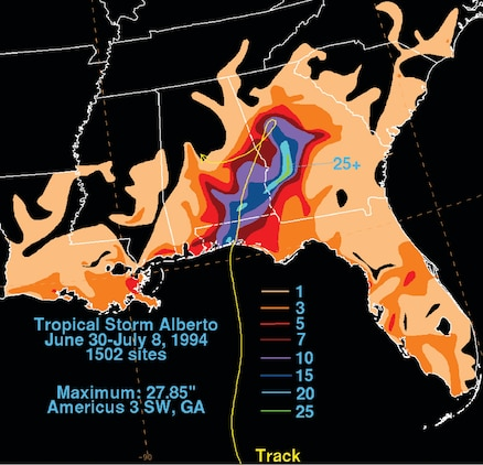 July 11 marked the 20th anniversary of the 1994 Albany Flood, which was a result of Tropical Storm Alberto that dropped 24.43 inches of rain here in a 24-hour period.