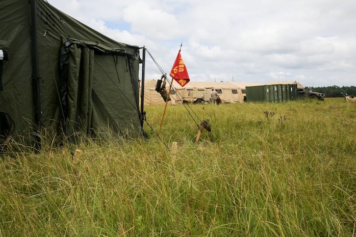 The Marines with Marine Wing Support Squadron 273 and made their way to Fort Stewart in Hinesville, Ga., for Field Exercise 2-14, July 30 to August 8. Field Exercise 2-14 is a field exercise the squadron conducts in order to get Marines and sailors tactically ready  with weapon familiarization, performing land navigation, living in the field and gives them a chance to execute their Military Occupational Specialties in the field.