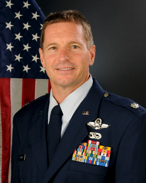 U.S. Air Force Lt. Col. Scott Bridgers, 169th Aircraft Maintenance Squadron commander at McEntire Joint national Guard Base, South Carolina Air National Guard, August 14, 2014.  (U.S. Air National Guard photo by Tech. Sgt. Caycee Watson/RELEASED)