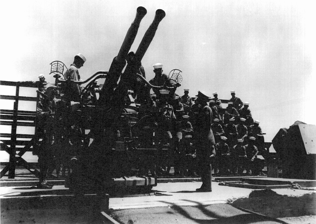 Anti-aircraft gun at Camp Elliott.