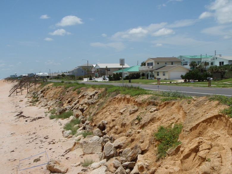 Long-term and storm induced beach erosion is the greatest problem in the Flagler County area.
