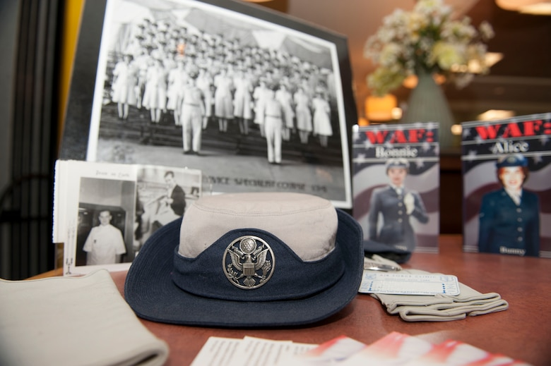 U.S. Air Force items from the 1960's are displayed during a Women's Equality Day presentation Aug. 26, 2014, on Buckley Air Force Base, Colo. Women's Equality Day commemorates the ratification of the 19th Amendment, granting women the right to vote. Today, it is celebrated in honor of modern day women's rights to be seen as equals to men. (U.S. Air Force photo by Airman 1st Class Samantha Saulsbury/Released)