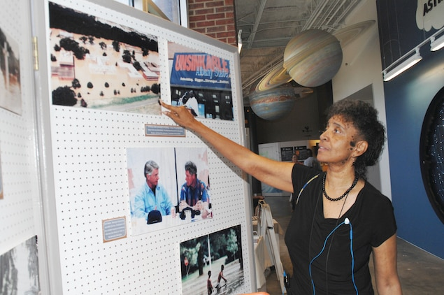 Verda L. Parker, Public Affairs Office, recently reflects on flood damage to the Albany State University campus during the 1994 flood in Albany, Ga.