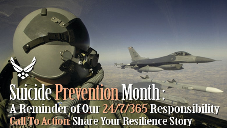 While Suicide Prevention Month is observed across the United States in September, the month-long event is a reminder of everyone's 24/7, 365-day responsibility to be a true Wingman.