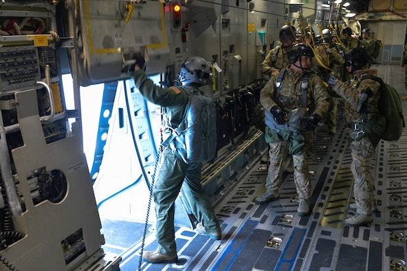 Mcchord field and fairchild afb airmen conduct joint for 10 minute trainer door attachment