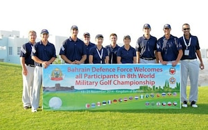 The US Men and Women Armed Forces Golf teams won respective gold medals for the seventh time during the 8th CISM World Military Golf Championship held in Bahrain 13-21 November 2014.