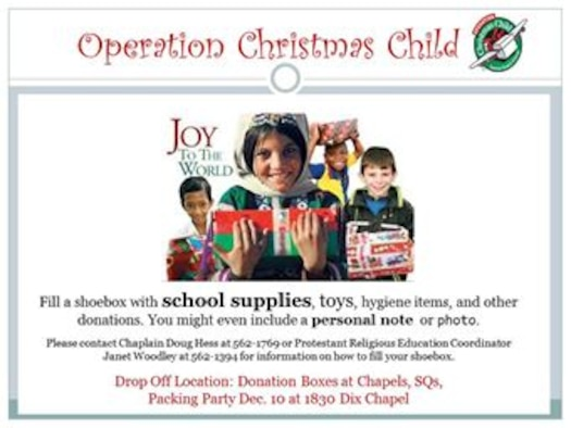 drop off locations for operation christmas child boxes filled