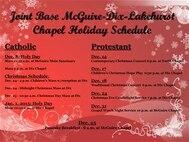Joint Base McGuire-Dix-Lakehurst Chapel Holiday Schedule