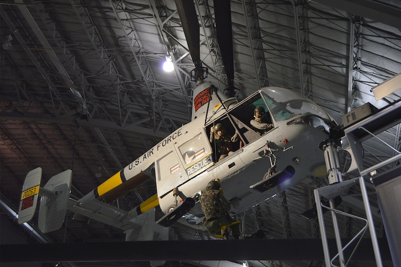 DAYTON, Ohio -- Kaman HH-43B Huskie in the Southeast Asia War Gallery at the National Museum of the United States Air Force. (U.S. Air Force photo)