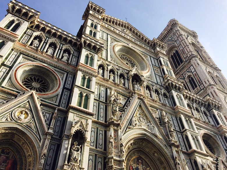 The Cathedral in Florence, Italy, towers over the city at 376 feet tall. Built in 1436, the Cathedral includes nearly a dozen of its own attractions, such as Vasari's fresco. (U.S. Air Force photo/Staff Sgt. R.J. Biermann)