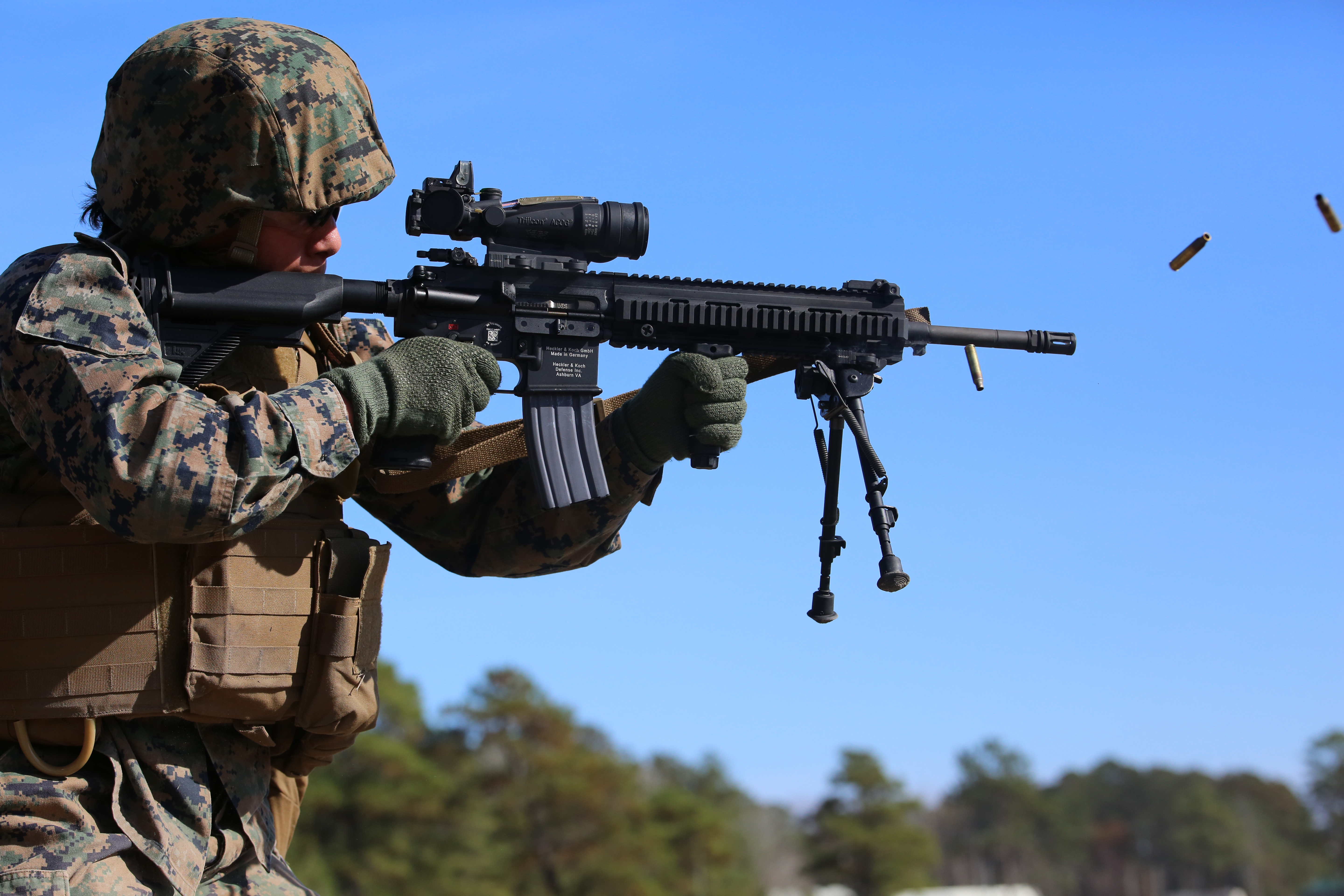 Integrated Task Force Marines drive home M27 IAR 101 ...