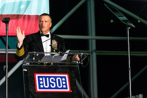 Vice Chairman of the Joint Chiefs of Staff Adm. James A. Winnefeld Jr. at the USO's 53rd Armed Forces Gala and Gold Medal Dinner in New York Dec. 4, 2014.  DoD photo by U.S. Air Force Master Sgt. Nathan Gallahan