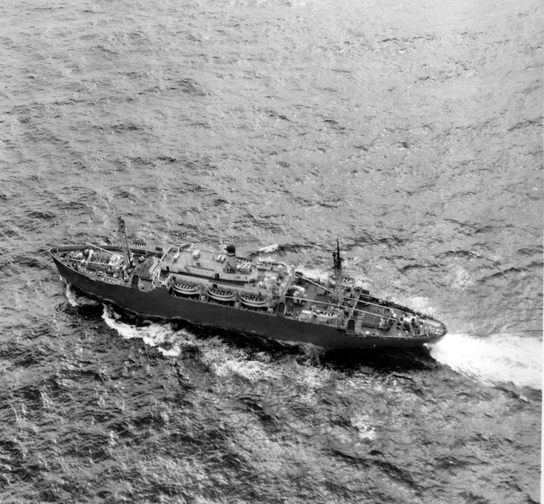 This photo shows the USS Ainsworth approaching Japan on Aug. 15, 1946. The ship was carrying the first dependents bound for Yokota Air Base. (U.S. Air Force photo courtesy of the 374 Airlift Wing History Office)