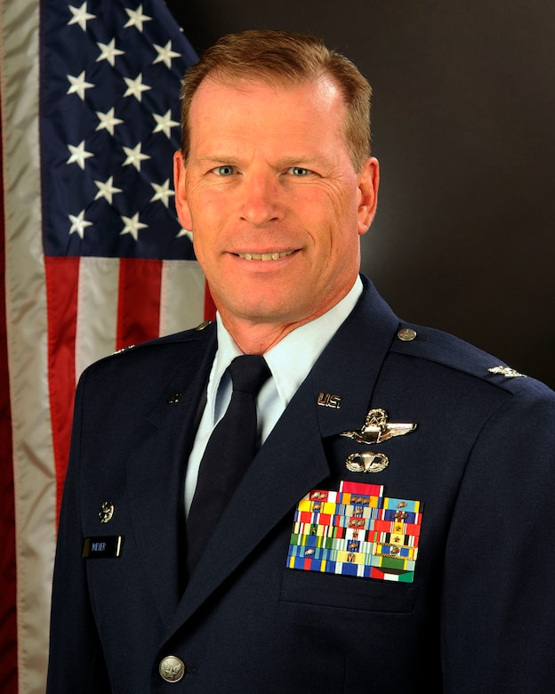 U.S. Air Force Col. David Meyer, commander of the 169th Fighter Wing at McEntire Joint National Guard Base of the South Carolina Air National Guard, Nov. 14, 2014. (U.S. Air National Guard photo by Senior Master Sgt. Edward Snyder/Released)