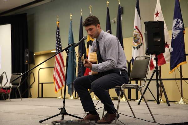 "Environmental Engineer, DA Intern, Marco Ciarla provided musical accompaniment during the May 22 Award Ceremony. He performed a rendition of Tom Petty's 1989 hit ""Free Fallin"" during the ceremony, as well as an original song immediately following the event."