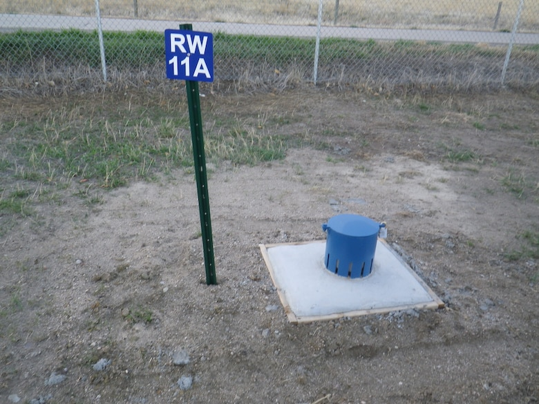 A system of 14 relief wells was installed along the downstream toe of Cherry Creek Dam in 2012. This is one of the relief wells.