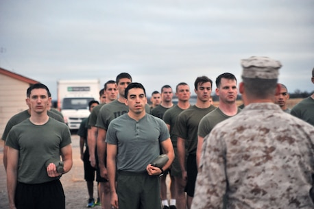 Twenty-one Marine Corps Officer Candidates from around the 8th Marine Corps District attended Pre-Officer Candidate School (OCS) Winter Training at Fort Walters in Mineral Wells, Tx December 5-7. These candidates, who are slated to attend OCS in four weeks, participated in many events such as physical training, hikes and land navigation to prepare them for the rigorous 10 week training to come.