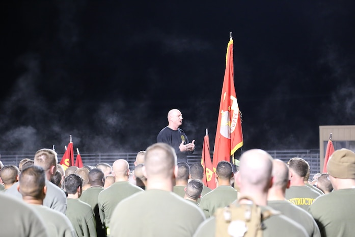 Colonel Daniel E. Longwell, Commanding Officer, Marine Corps Detachment Fort Leonard Wood, expresses the significance of continuing the traditions of Marine Corps history.