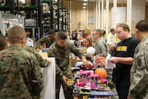 H.E.R.O.E.S. Care Fort Leonard Wood, Missouri distributed toys and other items to the Marine Coprs Detahcment representative for military children.