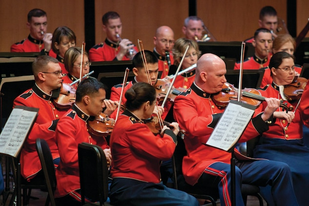 The Marine Chamber Orchestra will perform a free holiday concert at the National Museum of the Marine Corps at 7:30 p.m., Thursday, Dec. 11. (U.S. Marine Corps photo by Staff Sgt. Brian Rust/released)