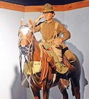 A 1930's trooper, symbolic of the last generation of American Cavalrymen, is on display at the U.S. Cavalry Museum.