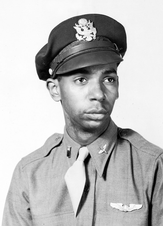 "Captured in Italy during the summer of 1944, Lt. (later Maj.) Lloyd ""Scotty"" Hathcock spent the rest of the war in Stalag Luft III and Stalag VII-A prison camps. After the war, Hathcock stayed in the service and helped to desegregate the U.S. Air Force. (U.S. Air Force photo)"