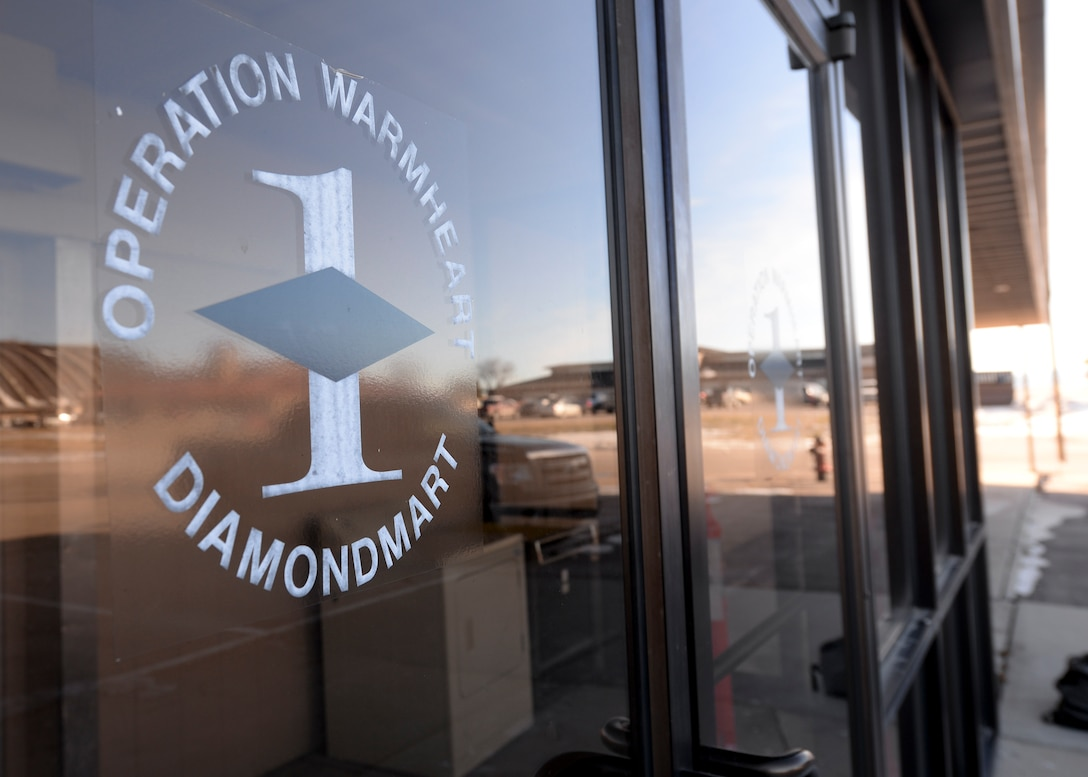The Diamond Mart, located at 1970 Travis St., is now open from 11 a.m. to 3 p.m. every third Thursday of the month, at Ellsworth Air Force Base, S.D. The facility was developed by the base's First Sergeant Council as a way of helping provide Airmen another resource to acquire uniform clothing and items free of charge if one of their uniforms is damaged or unserviceable. (U.S. Air Force photo by Senior Airman Anania Tekurio/Released)
