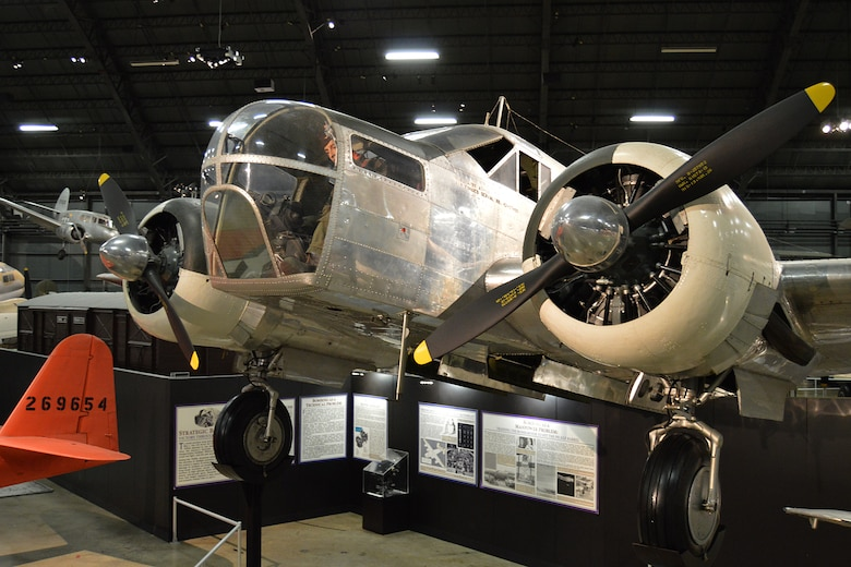 DAYTON, Ohio -- Beech AT-11 Kansan in the World War II Gallery at the National Museum of the United States Air Force. (U.S. Air Force photo)