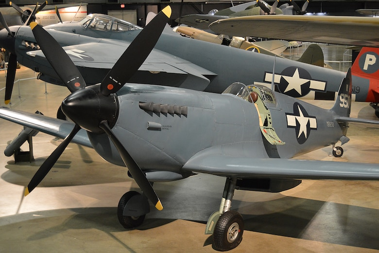 DAYTON, Ohio -- Supermarine Spitfire Mk XI in the World War II Gallery at the National Museum of the United States Air Force. (U.S. Air Force photo)