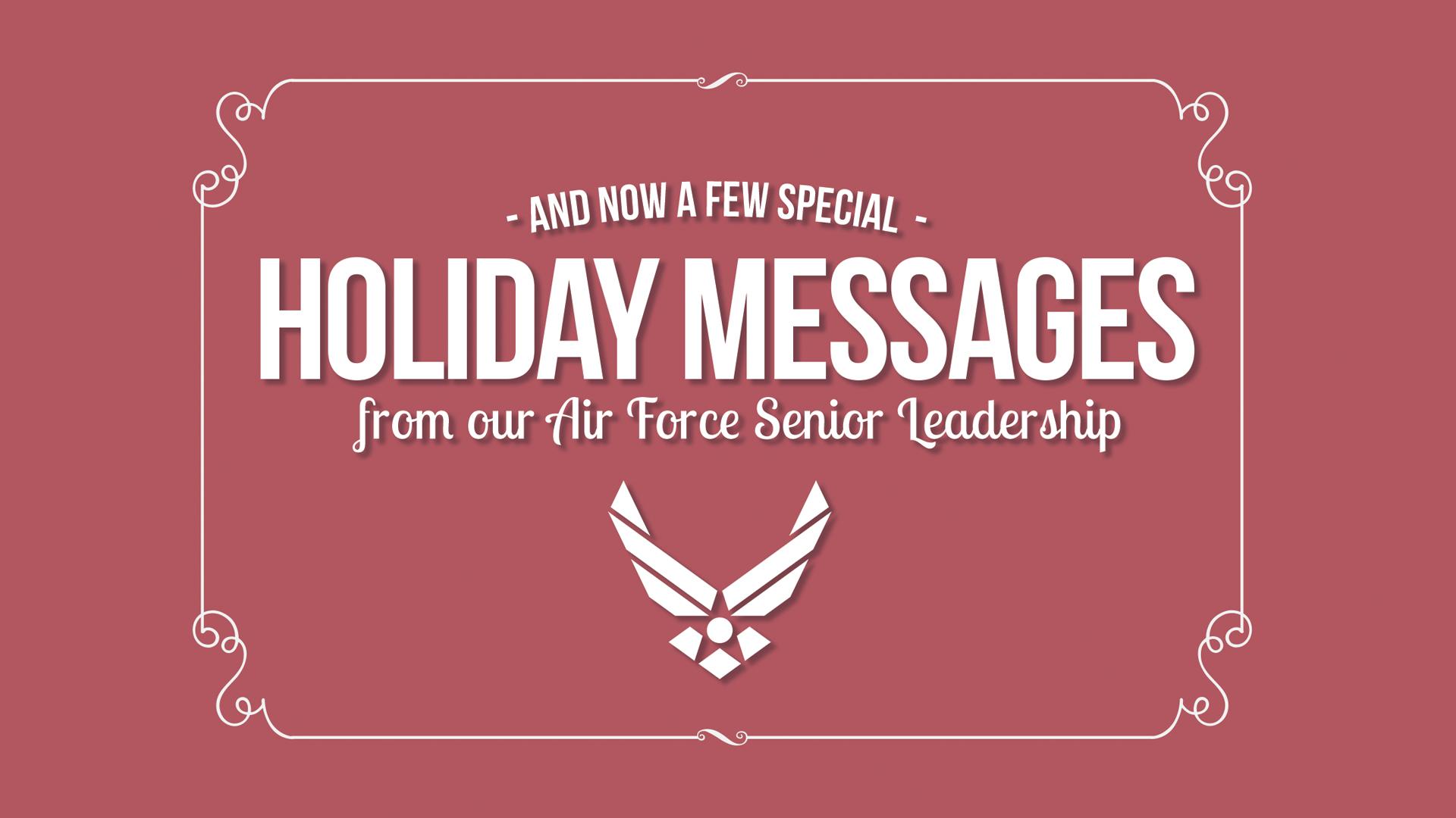 Af senior leaders share holiday messages us air force af senior leaders share holiday messages kristyandbryce Gallery
